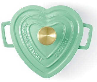 Martha Stewart Collection Enameled Cast Iron 2-Qt. Heart-Shaped Casserole