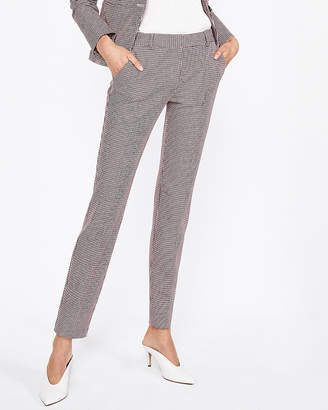 Express Mid Rise Houndstooth Columnist Ankle Pant