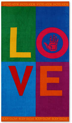 "Body Glove Love Cotton 36"" x 70"" Graphic-Print Beach Towel Bedding"