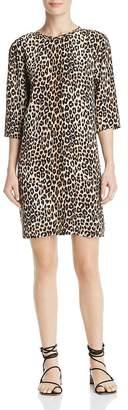 Equipment Aubrey Leopard-Print Silk Dress
