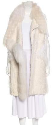 J. Mendel Elongated Fur Vest