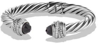 David Yurman Crossover Bracelet with Black Onyx and Diamonds