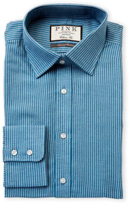 Thomas Pink Classic Fit Hector Stripe Long Sleeve Dress Shirt