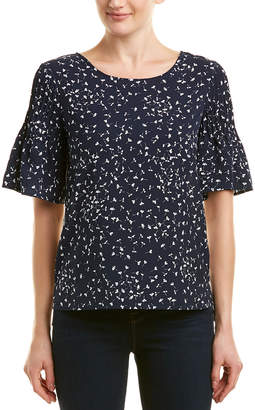 French Connection Flutter Sleeve Top