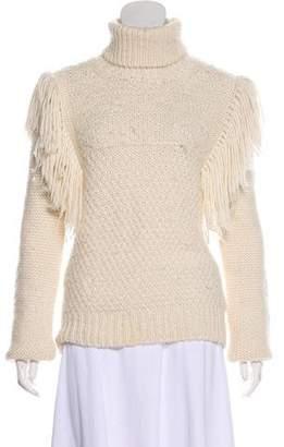 Joseph Fringe Turtleneck Sweater