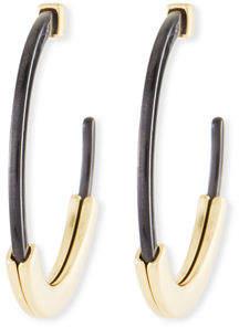 BaubleBar Tassiana Resin Hoop Earrings