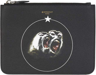 Givenchy Monkey Brothers Zipped Pouch Large Black