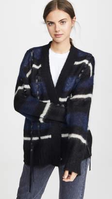 3.1 Phillip Lim Oversized Mohair Striped Cardigan
