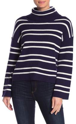 Abound Slouchy Neck Striped Sweater