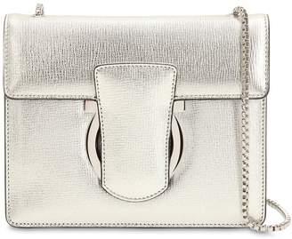 Salvatore Ferragamo Thalia Metallic Leather Shoulder Bag
