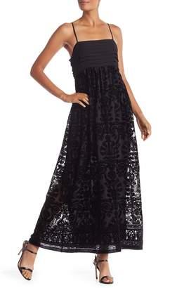 Max Studio Velvet Sleeveless Maxi Dress