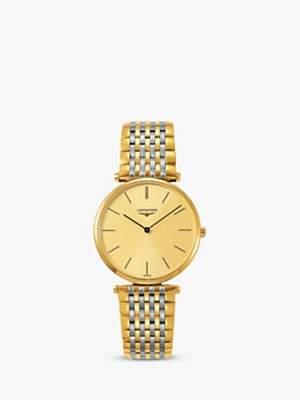 Longines L47552327 Unisex La Grande Classique Two Tone Bracelet Strap Watch, Gold/Silver