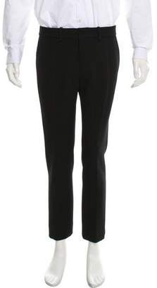Balenciaga Cropped Flat Front Dress Pants