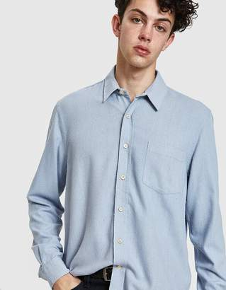 Our Legacy Classic Shirt in Light Blue Silk