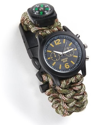 Equipped Outdoors NW Survival 6 In 1 Paracord Survival Safety Watch Camo