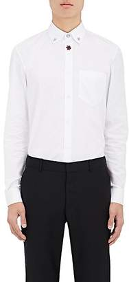 Givenchy MEN'S EMBELLISHED COTTON POPLIN SHIRT - WHITE SIZE 43