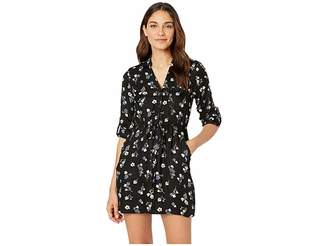 Angie Floral Printed 3/4 Sleeve Dress Women's Dress