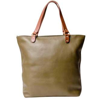 N'Damus London - Abbey Olive Large Leather Tote Bag