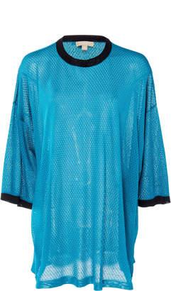 Michael Kors Mesh Tunic Silk Tee
