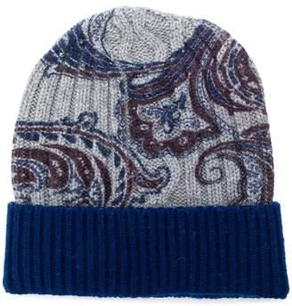 Etro paisley-print knit beanie