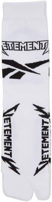Vetements X Reebok Split Toe Printed Socks