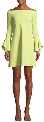 Chiara Boni Berit Off-the-Shoulder Mini Cocktail Dress