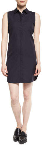 3.1 Phillip Lim 3.1 Phillip Lim Sleeveless Poplin Shirtdress, Phantom Blue