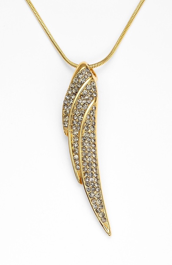 Vince Camuto 'Flights of Fantasy' Pavé Wing Pendant Necklace