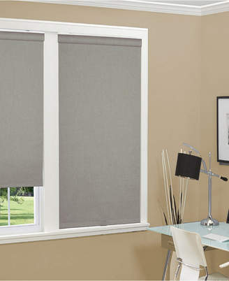 "Cordless Linen Look Thermal Fabric Roller Shade, 27""x66"""