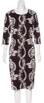 Samantha Sung Printed Midi Dress
