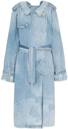 Unravel Project double-sided denim trench coat