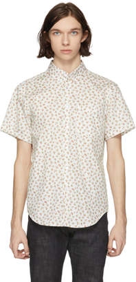 Naked and Famous Denim White Vintage Flowers Shirt