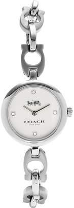 Coach Signature Chain Link Bracelet Watch-Silver