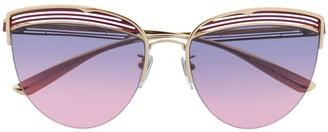 Bulgari stripe motif cat-eye sunglasses