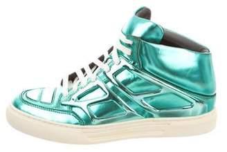 Alejandro Ingelmo Metallic Tron Sneakers