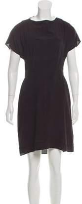 Miu Miu Short Sleeve Mini Dress Black Short Sleeve Mini Dress