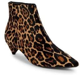 Calvin Klein Larissa Leopard Calf Hair Booties
