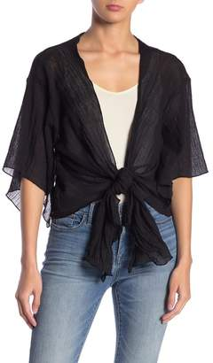 Elan International Cropped Tie Front Shrug