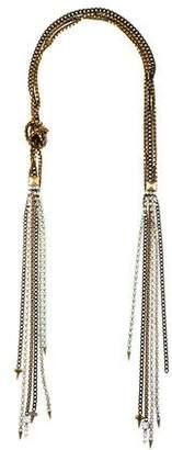Fallon Rhinestone & Chain Multistrand Necklace