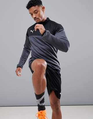 Puma Soccer Play 1/4 Zip Sweat In Gray 655928-06