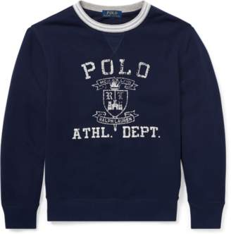 Ralph Lauren Twill Terry Graphic Sweatshirt