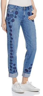 MICHAEL Michael Kors Dillon Floral Embroidered Slim Jeans in Antique Wash - 100% Exclusive $195 thestylecure.com