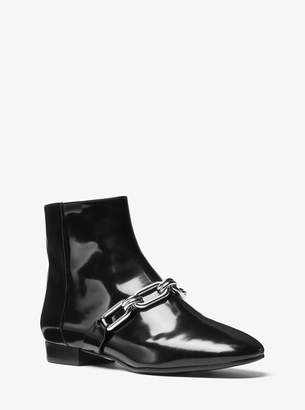 Michael Kors Lennox Patent Leather Ankle Boot
