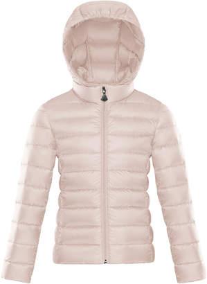 Moncler Hooded Zip-Front Coat, Size 4-6