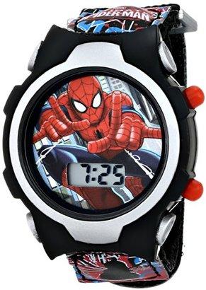 Marvel Kids ' spmkd503 Ultimate Spidermanデジタル表示クォーツブラックウォッチ
