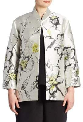 Caroline Rose All In Bloom Floral Jacquard Jacket