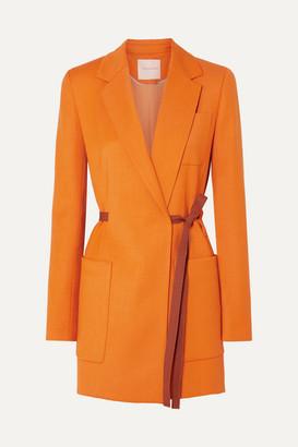 Roksanda Belted Grain De Poudre Blazer - Orange