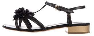 Chanel Camellia Leather Sandals