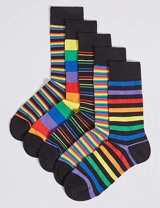 "Marks and Spencer 5 Pack Cotton Rich Cool & Freshfeetâ""¢ Socks"