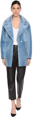 Blancha Reversible Leather & Fur Coat